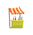 food stall with drinks fixed market stall for vector image