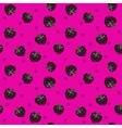 Funny bright seamless pattern with blackberries vector image