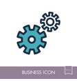 gear outline icon teamwork sign vector image