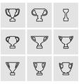 line trophy icon set vector image