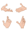 Set of cartoon Hands Icons for vector image