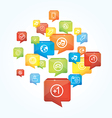 Social media background with speech bubbles - vector image