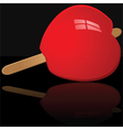 Candy apple vector image