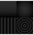 Seamless black and white abstract pattern set vector image
