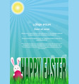easter template with blank space for text spring vector image
