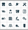 building icons set collection of measure tool vector image