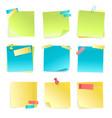 sticky notes set vector image
