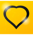 Yellow technological background and heart vector image