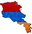 Armenia map with flag inside vector image