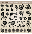 vector floral ornaments and icons vector image vector image