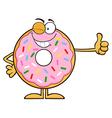 Winking Donut Cartoon vector image