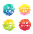 Beautiful motivation poster set vector image