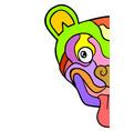 carnival art mask vector image
