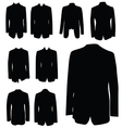 man coat black silhouette vector image