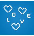 Origami love vector image
