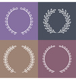 set of laurel wreaths in outline style vector image