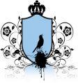shield and bird vector image