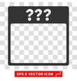 Unknown Calendar Page Eps Icon vector image