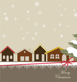Christmas card with a winter town vector image vector image