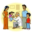 Indian Family Doctor Visit vector image vector image