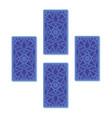 four tarot card spread reverse side vector image