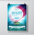 summer night party flyer design vector image