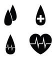 blood icon set vector image