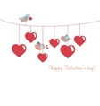 Cute birds celebrating Valentines Day vector image