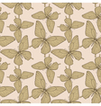 seamless background with butterflies vintage color vector image vector image