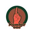 Number one finger sign Finger up gesture icon vector image