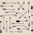 Hand Draw Arrow Collection vector image