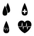 blood icon set vector image