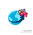 Global marketing network concept vector image