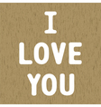 Love letter card2 vector image