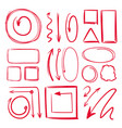 marker underlines and different doodle frames vector image