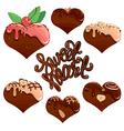sweet heart set 380 vector image