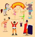 vintage circus 2 vector image