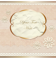 Lacy vintage border with flowers vector