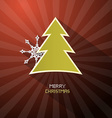 Retro Merry Christmas Dark Red Background With vector image vector image
