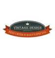 Best offer oval vintage banner vector image
