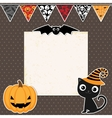 Cute Halloween party card vector image vector image