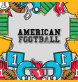 american football tools background design vector image