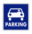 Autocar parking sign vector image