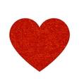 dark red heart vector image