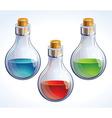 poison bottles vector image