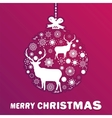 Purple and pink Christmas ball EPS 8 vector image
