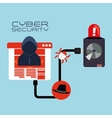 Cyber security system and media design vector image