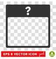 Unknown Day Calendar Page Eps Icon vector image