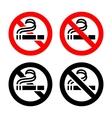 No smoking symbols vector image vector image