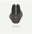 line flat color computer part icon mouse vector image
